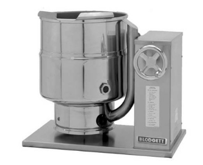 Blodgett 10E-KTC 2401 10-Gallon Countertop Tilting Kettle, Manual Gear Box Tilt, 240/1 V