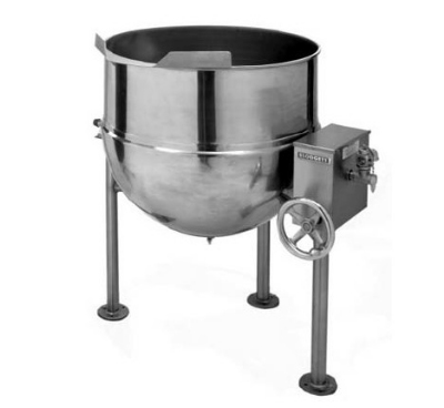 Blodgett 20DS-KLT 20-Gallon Direct Steam Manual Tilt Kettle, Hand Crank