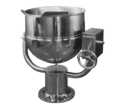 Blodgett 20DS-KPT 20-Gallon Direct Steam Manual Tilting Stainless Kettle w/ Pedestal