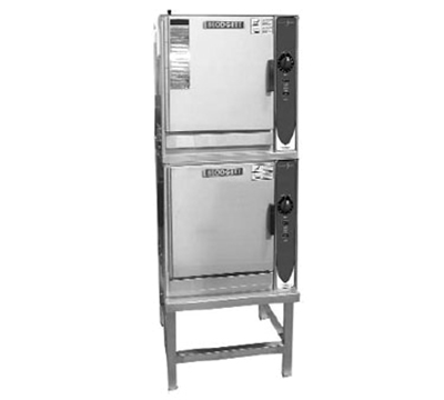 Blodgett (2) 3E-SN 2081 2-Stack Convection Steamer w/ Manual Control & Stand, 208/1 V