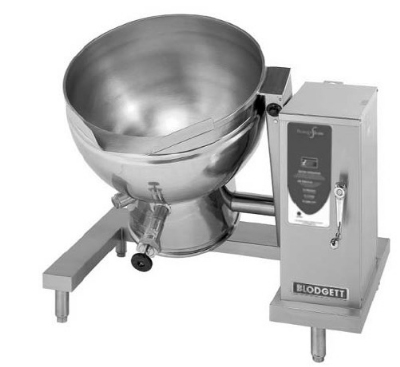 Blodgett 40ES-KLT 2401 40-Gallon Tilting Kettle w/ Self Lock & Manual Crank Tilt, 240/1 V