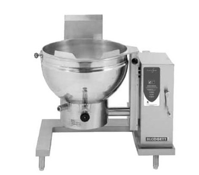 Blodgett 40GS-KLT LP 40-Gallon Manual Crank Self-Locking Tilting Kettle, LP