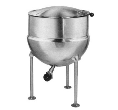 Blodgett 60DS-KLS 60-Gallon Direct Steam Stationary Stainless Kettle w/ Hinged Cover