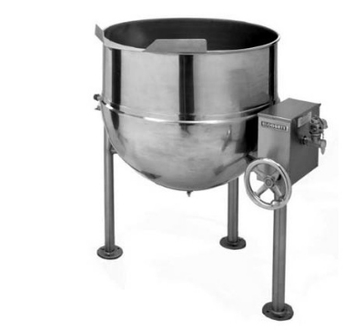 Blodgett 60DS-KLT 60-Gallon Direct Steam Manual Tilting Kettle w/ Hand Crank