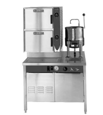 Blodgett 6E-6K-SB (42) Manual Control Steamer Kettle Combo w/ 42-in Boiler Cabinet Base
