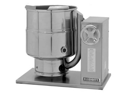Blodgett 6E-KTC 2801 6-Gallon Table Top Tilting Kettle w/ Manual Gear Box Til