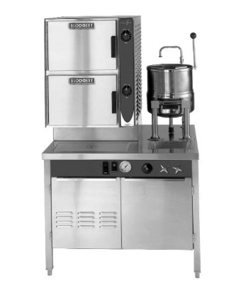 Blodgett 6G-6K-SB (42) NG Manual Steamer Kettle Combo w/ 42-in Boiler Cabinet Base, N