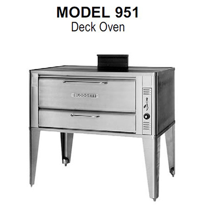 Blodgett 951 DOUBLE NG Double Multi Purpose Deck Oven, NG