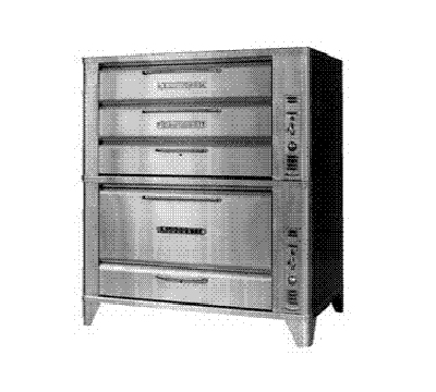Blodgett Oven 981 966 Deck Type Gas Oven 42 W x 32 D x (1) Double 7 & (1) 16 in H Section LP Restaurant Supply