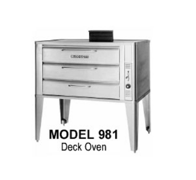 Blodgett Oven 981 BASE Deck Type Gas Oven (base only) 42 W x (1) Double 7 in H Section LP Restaurant Supply