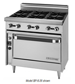 "Blodgett BP-6-36C 36"" 6-Burner Gas Range, LP"