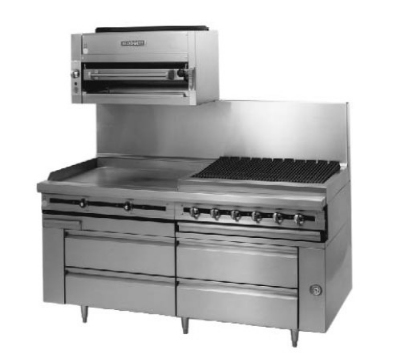 "Blodgett BPFLH-04R-T-72 72"" Chef Base w/ (4) Drawers - 115v"