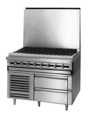 Blodgett BPFLH-04S-T-84 84-in Freezer Base w/ Self-Contained Refrigeration & 4-Drawers