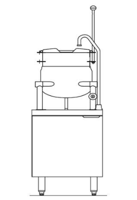 Blodgett Oven CB24E 10K Electric Kettle/Stand Assembly 24 in W 10 gal Kettle 415/3 Restaurant Supply