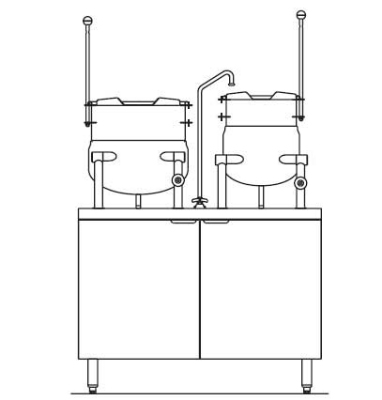 Blodgett Oven CB42E 10 6K Electric Kettle/Stand Assembly 42 in W 10 gal & 6 gal Kettle 380/3 Restaurant Supply