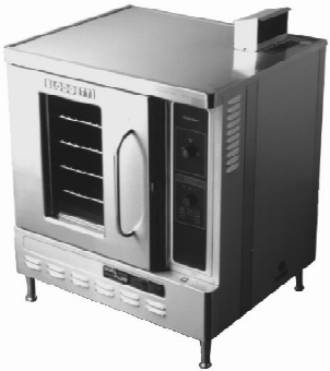 Blodgett DFG50 SINGLE NG Half Size Gas Convection Oven Deluxe, Dual Flow, NG