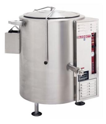 Blodgett Oven KLS 40G Gas Stationary Kettle 40 gallon Tri Legs Self Contained LP Restaurant Supply