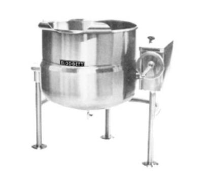 Blodgett Oven KLT 80DS Direct Steam Tilting Kettle 80 gal Manual Crank 304 Stainless Kettle Restaurant Supply
