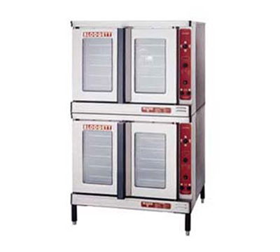 Blodgett MARKV-100DOUBL Double Full Size Electric Convection Oven - 208/3v