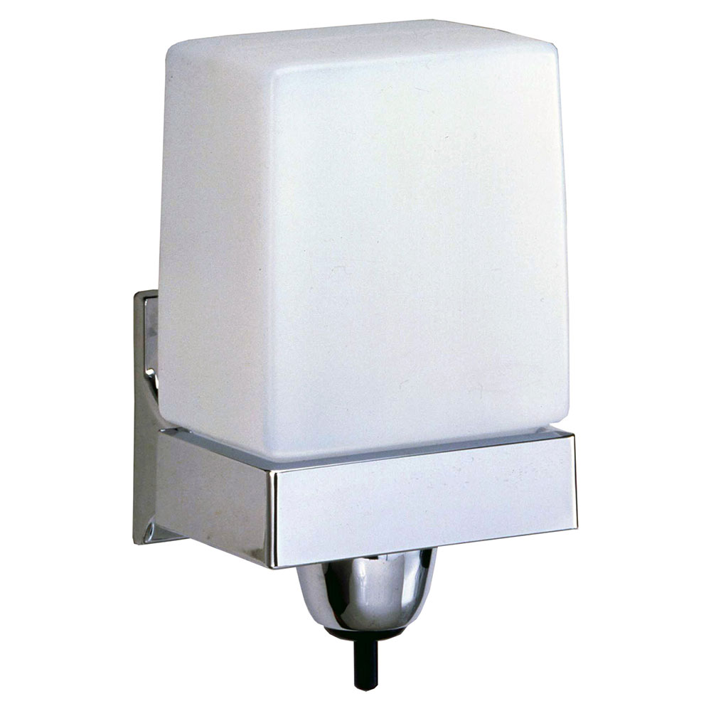 Bobrick B155 Classic Series Liquidmate Wall Mounted Soap Dispenser, Chrome Plated Bracket