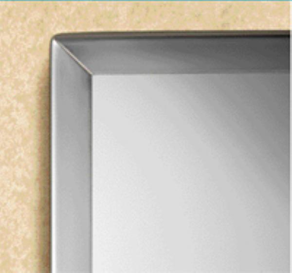 Bobrick B1652448 B-165 Series Channel-Frame Mirror, 24 in x 48 in
