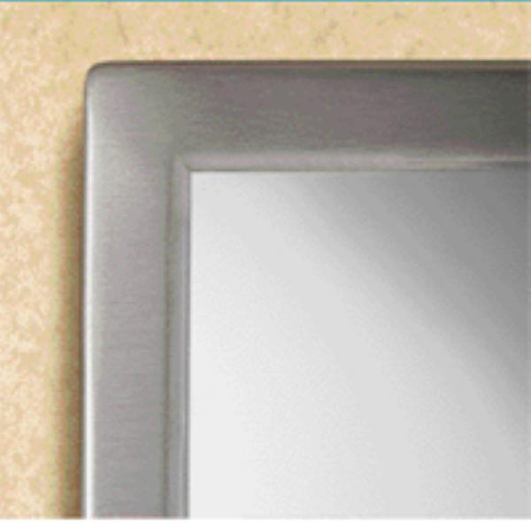 Bobrick B2902430 B-290 Series Welded Frame Glass Mirror, 24 in x