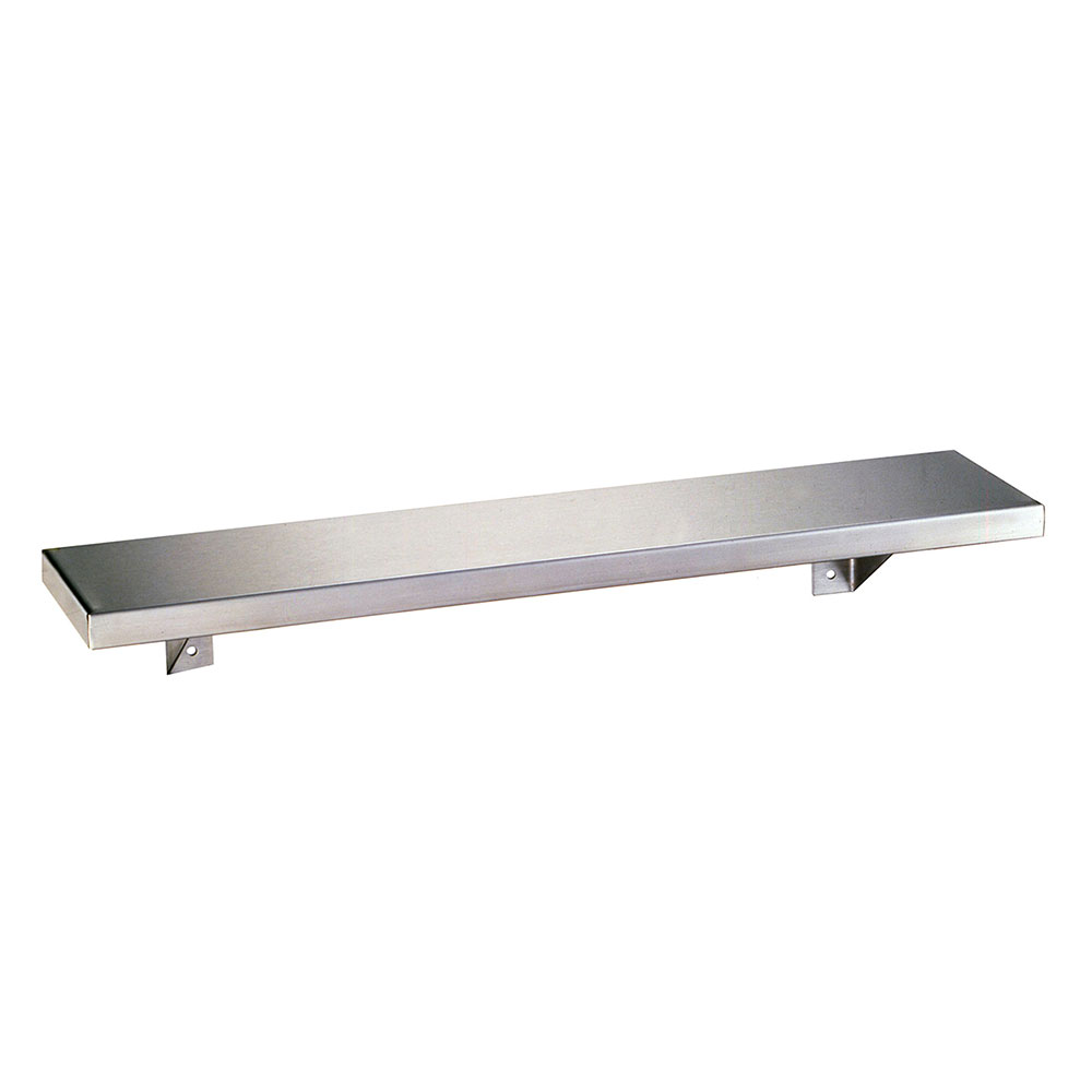 Bobrick B-298X24 Stainless Shelf, 8 x 24-in Long