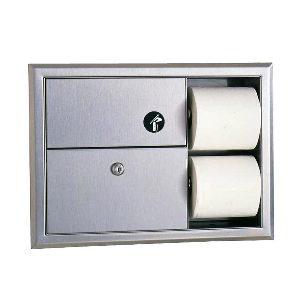 Bobrick B3094 Classic Series Recessed Sanitary Napkin Disposal &