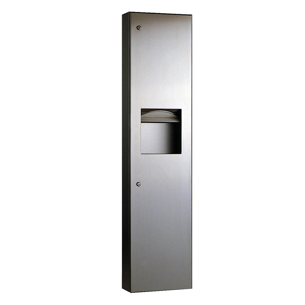 Bobrick B380349 Recessed Paper Towel Dispenser / Waste Receptacle 6.3 Gallon