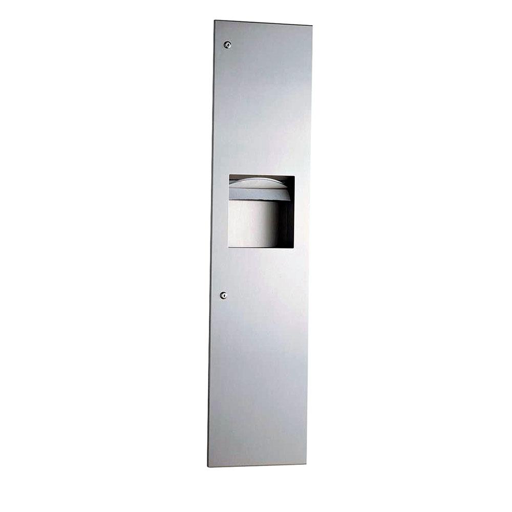 Bobrick B38034 Recessed Paper Towel Dispenser / Waste Receptacle 3.8 Restaurant Supply