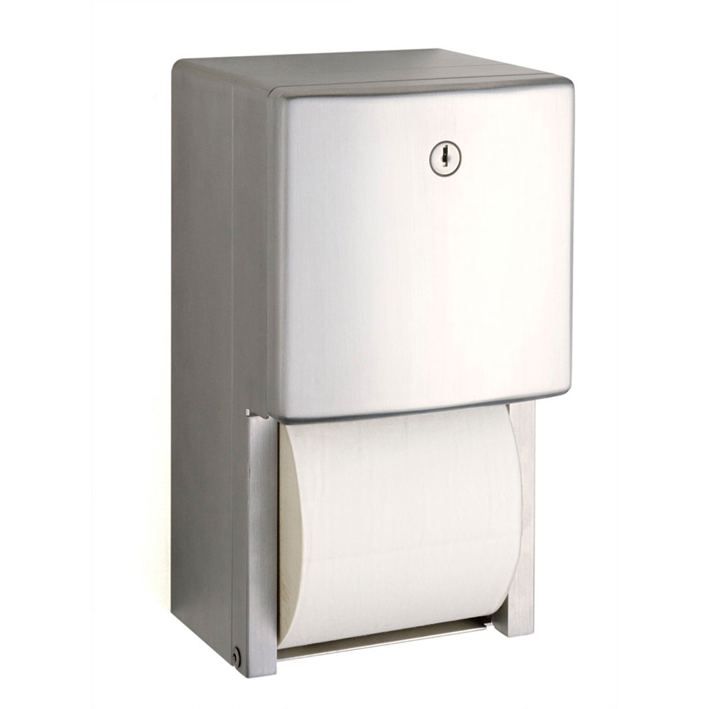 Bobrick B4288 Contura Series Surface Mounted Multi Roll Toilet Tissue Dispenser