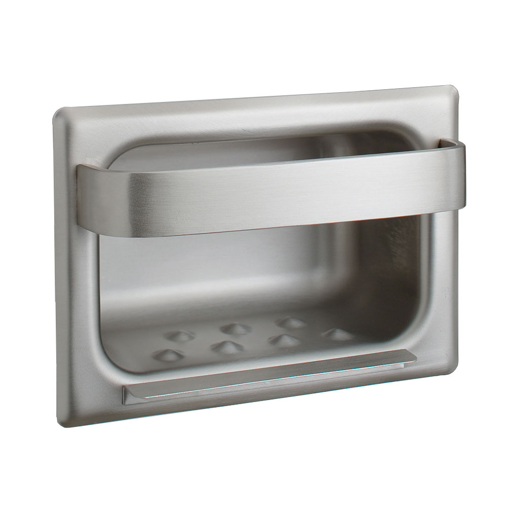Bobrick B4390 Recessed Heavy Duty Soap Dish with Bar