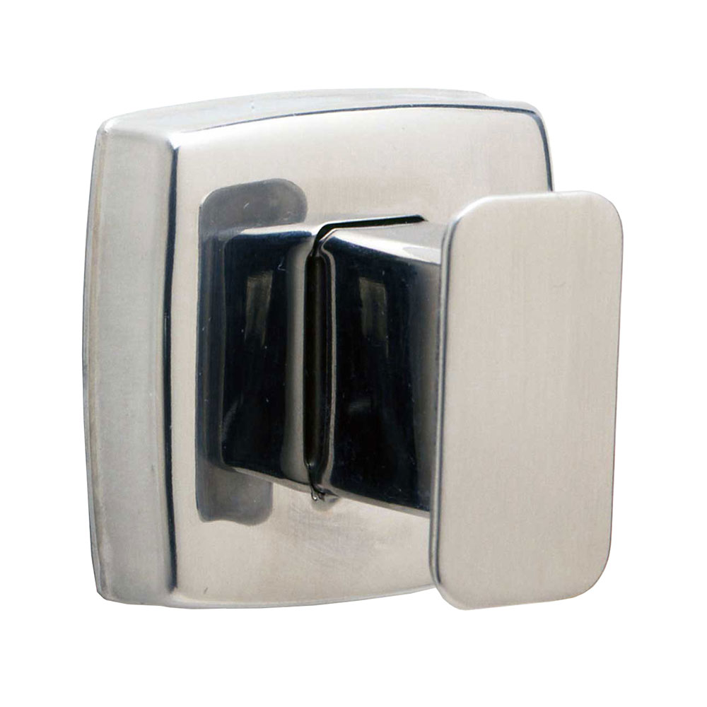 Bobrick B7671 Classic Series Single Robe Hook, Polished St
