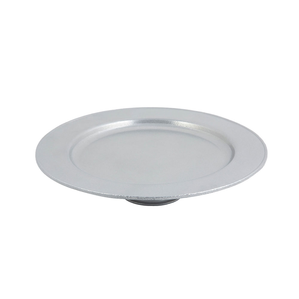 Bon Chef 10234001P 13 x 2-3/4-in Cake Stand, Aluminum/Pewter-Glo
