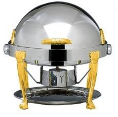 Bon Chef 14009 2-Gallon Round Chafer w/ 24K