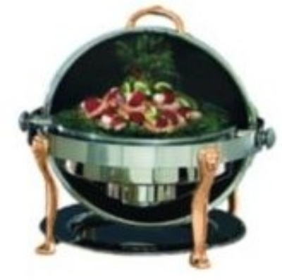 Bon Chef 18000G 2-Gallon Round Roll Down Chafer w/ Gold Plate