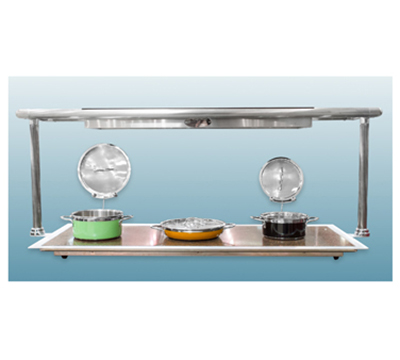 Bon Chef 50145 Top Heat Unit w/ Overhead Heat, Heat Lamp, Granite Base
