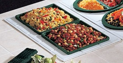 Bon Chef 960029501S IVOS Custom Cut Tile Tray for (2) 9501, Aluminum/Ivory S