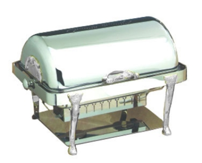 Bon Chef 17040CH 2-Gallon Rectangular Roll Down Dripless Chafer, Chrome