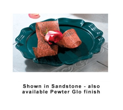 Bon Chef 20363010S GIN Round Pedestal Platter, 15-7/8-in, Aluminum/Ginger