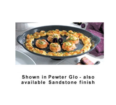 Bon Chef 20749059P 22.5-in Pedestal Platter, Aluminum/Pewter-Glo