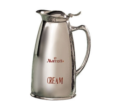Bon Chef 4051MC 20-oz Insulated Pitcher Server, Marriott Cream Crest, Stainless