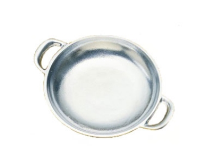 Bon Chef 5000P 5.75-in Round Au Gratin Pan, Aluminum/Pewter-Glo