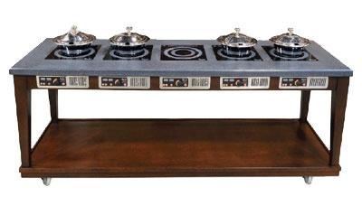 Bon Chef 50120 Residential Induction Buffet w/ Wire Management System 220 V