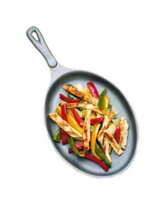 Bon Chef 5037I Oval Cast Iron Skillet, 7-1/8 x 9-7/8-in