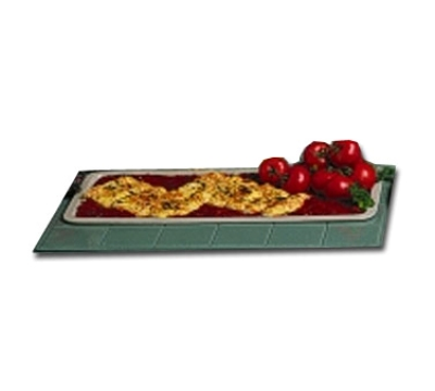 Bon Chef 5101S CGRN 25-in Banquet Serving Platter, Aluminum/Calypso Green