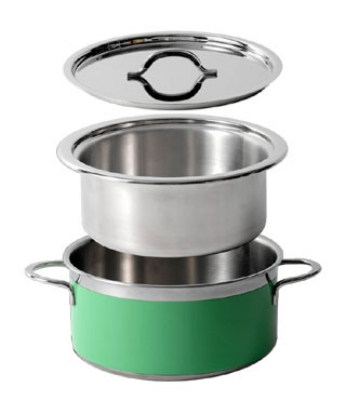 Bon Chef 60302I Insert Pan For Enameled Tri-Ply Braiser 60302, Stainless