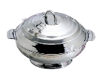 Bon Chef 61209 13.6-in Round Insulated Hotpot Server w/ Locking Lid, Stainless
