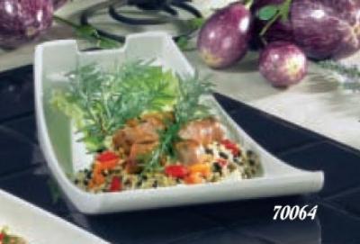 Bon Chef 70064S RED Platter, 12