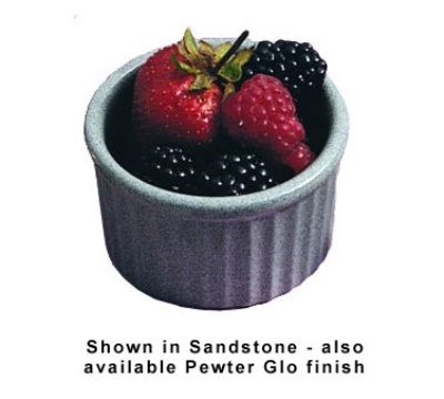 Bon Chef 9038S WH 5-oz Fluted Ramekin, 3.5-in Deep, Aluminum/White